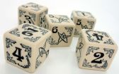 Beige & Black Arkham Horror Dice Set